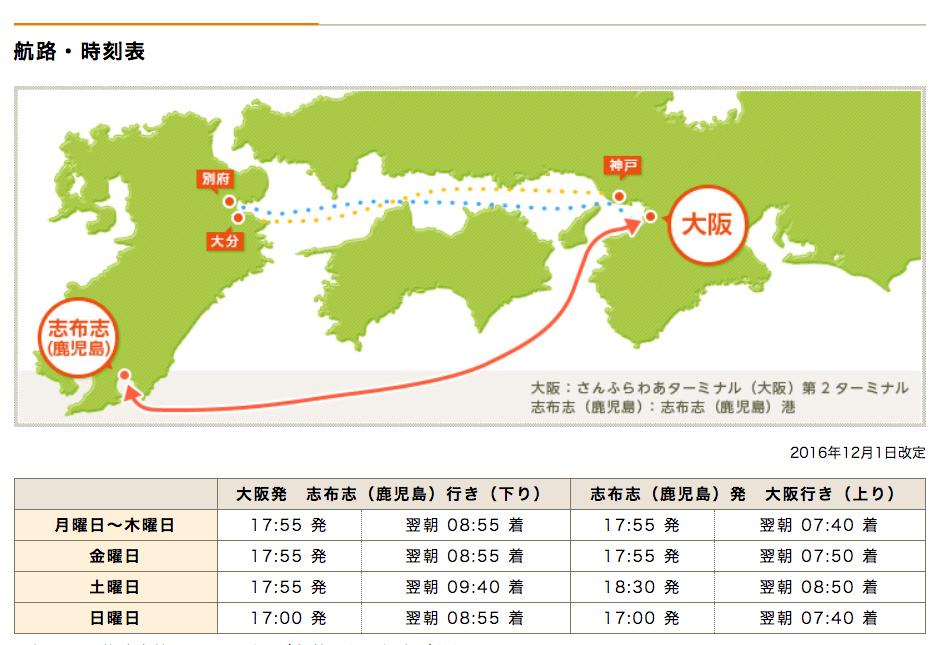 大阪鹿児島フェリー